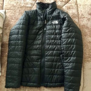 North Face Reversible Mossbud Swirl Jacket